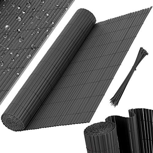 KESSER® PVC Sichtschutzmatte Sichtschutzzaun Balkonverkleidung Windschutz Wetterfest verstärkten Lamellen,...