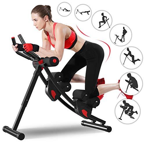 Ab Maschine, Enow Faltbare Bauchmuskeltrainer für Zuhause, Höhenverstellbare Profi AB Trainer, Fitness Core...