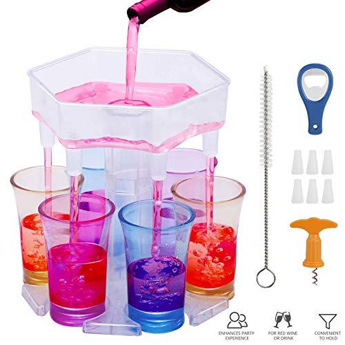 6 Schnapsglasspender und Halter, Schnapsglas-Spender Bar Schnapsglas-Brille Hängender,...
