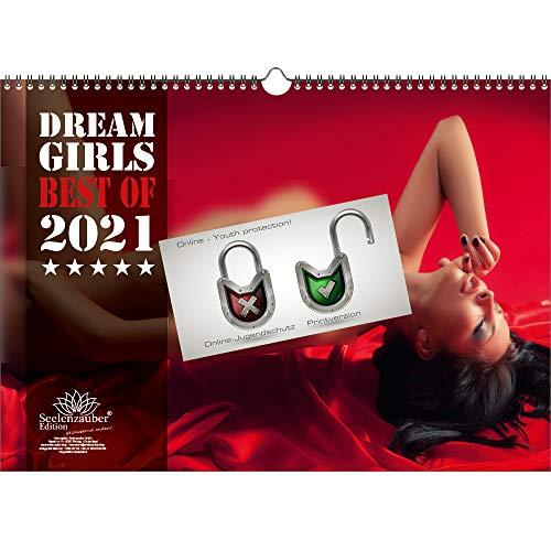 Sexy Dreamgirls DIN A3 Kalender Querformat für 2021 Erotik - Seelenzauber