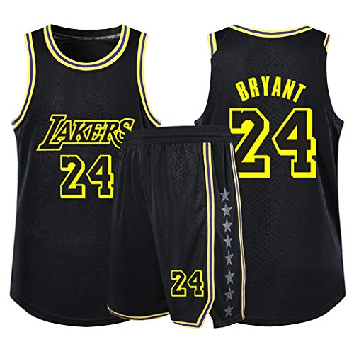 Dray Kobe Bryant Lakers Nr. 24 Basketball Kleidung Set (Color : Black, Size : S 150-155cm)