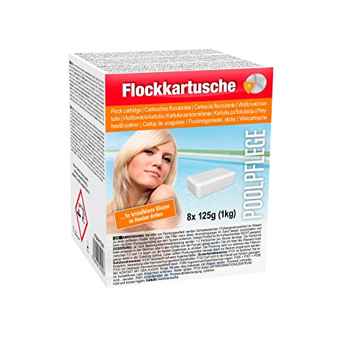 Steinbach Poolpflege Flockkartusche, 8 x 125 g, Flockungsmittelm 0754001TD08
