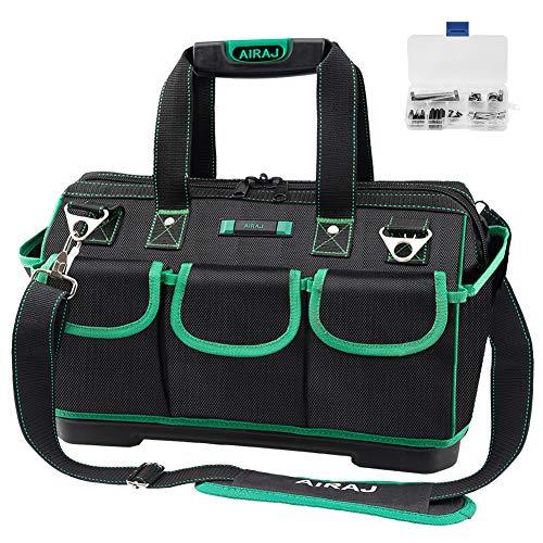 AIRAJ Wasserdichte Werkzeugtasche,47×27×31cm,Weithals Werkzeugtasche mit großer Kapazität,Multifunktions...