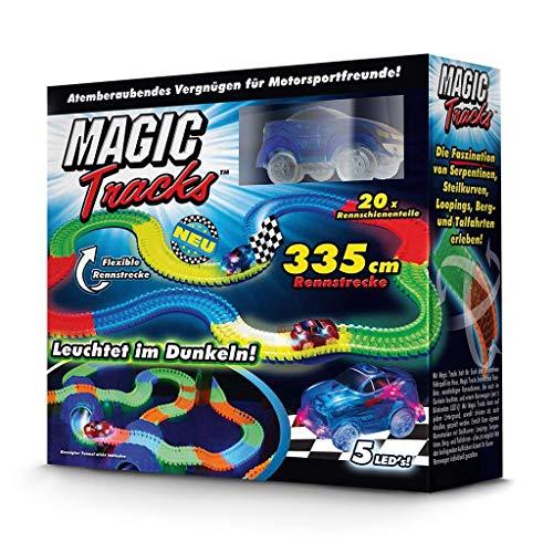 Magic Tracks Starter Set | Autorennbahn fr Kinder ab 3 Jahren | Autobahn Kinder | Auto Spielzeug Set |...