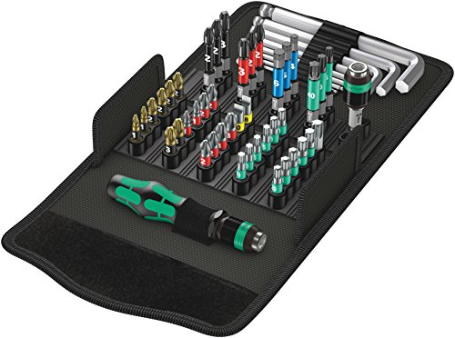 Wera 05057460001 Werkzeug-Set, Kraftform Kompakt 100, 52-teilig