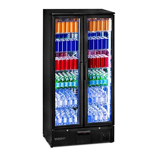 Royal Catering RCGK-458C Getränkekühlschrank Flaschenkühlschrank mit Glastür Standkühlschrank (458 L,...