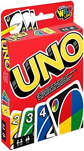 Mattel Games W2087 - UNO Kartenspiel und Gesellschaftspiel, geeignet für 2 - 10 Spieler, Kartenspiele und...