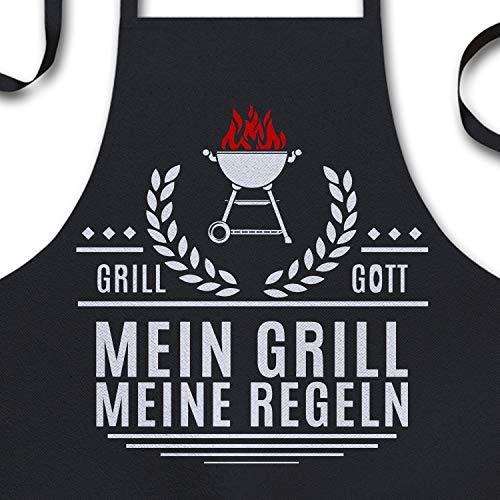 YORA Grillschrze fr Mnner lustig - Mein Grill Meine Regeln - Perfektes Grillzubehr Mnner Geschenk