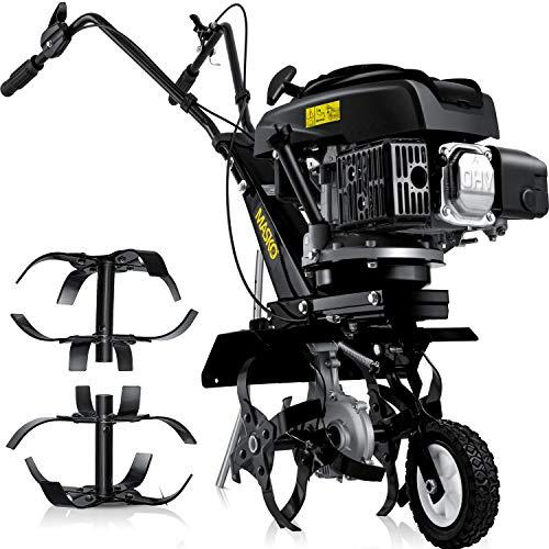 MASKO® Benzin Gartenfräse MK-909 Motorhacke 3kW(4,1PS) 139ccm Ackerfräse mit 36cm Arbeitsbreite - 4 Takt...