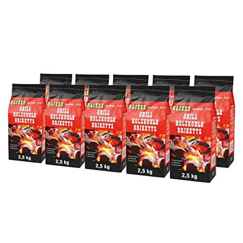 Blixxx 5 Kg Grillbriketts 2 x 2,5kg Holzkohle Grillkohle Holzkohlebriketts Holzkohlegrill Grill (25kg)