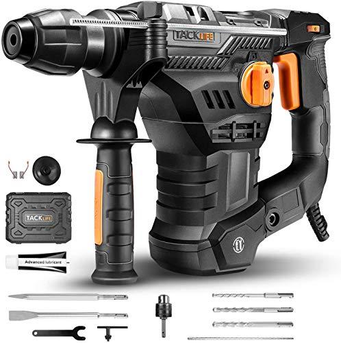 Bohrhammer, TACKLIFE 1500W 7J Abbruchhammer mit SDS-Plus und 4 Funktionen in 1, 4350BPM und 900RPM,...