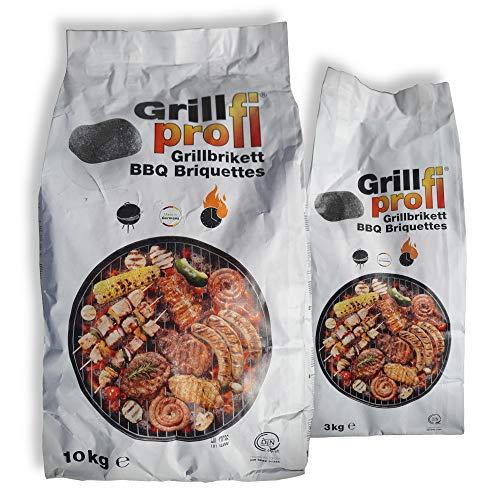 Grillprofi Premium Grillbriketts 29kg für Grillprofis Grillkohle Grill Brikett Kohle Holz Holzkohle für...