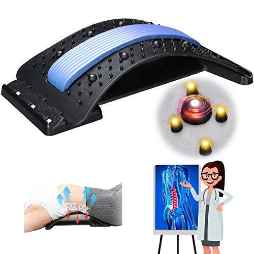 Jeteven Rückenstrecker,Back Stretche,Rückenbahre Mit Magnetfeldtherapie,Rückentrainer Rückenmassage...