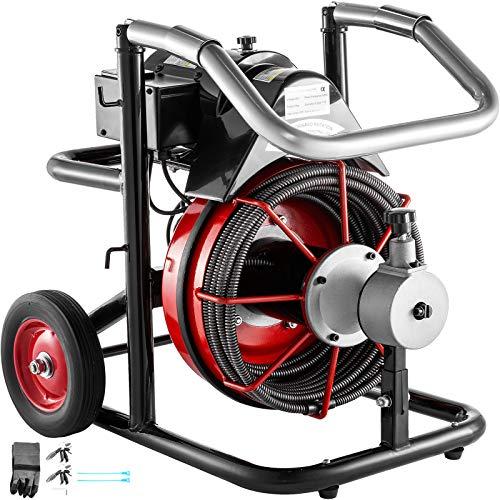 Mophorn Rohrreinigungsmaschine Rohrreinigungsgerät Spirale 50 x 1/2 Zoll 370W 1750R/min für die...