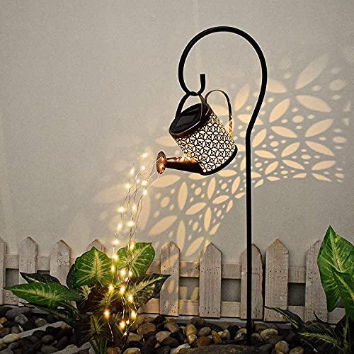 Star Dusche Licht,Solar Gießkanne Fairy Garden Light,Solarlaterne für Außen, LED Solar Laterne,Garten...