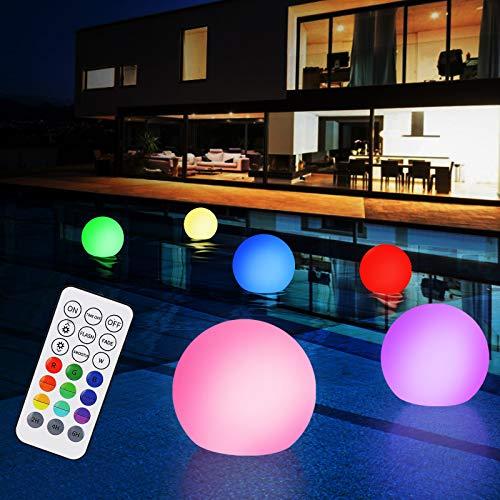 Poollicht LED, Zorara 6 Stück Poolbeleuchtung Licht mit RF Fernbedienung, 16 RGB Farbwechsel Unterwasser...