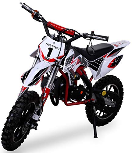 Actionbikes Motors Kinder Mini Crossbike Gazelle 49 cc 2-takt inklusive Tuning Kupplung 15mm Vergaser Easy...