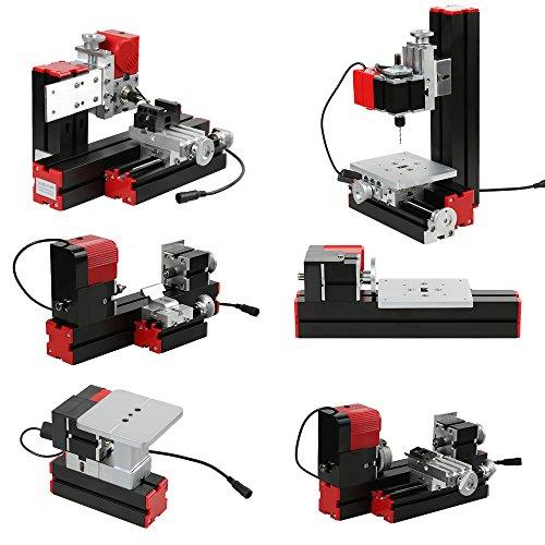 KKmoon Mini DIY 6 in 1 Drehmaschine aus Aluminiumlegierung + Zinklegierung, Multifunktionale Fräsmaschinen...