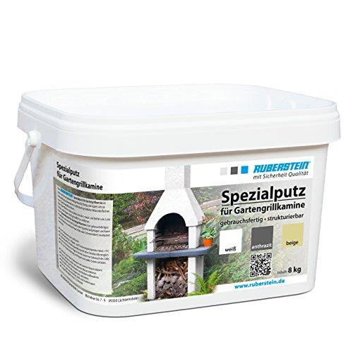 Ruberstein®Spezialputz für Gartengrillkamine, 8kg, weiß, direkt vom Hersteller