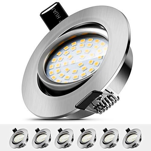 LED Einbaustrahler Schwenkbar 5W Deckenstrahler Leuchtmittel Warmweiß 3000K,IP44 Wasserdicht Deckenspot für...