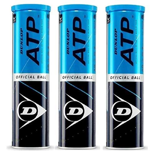 Dunlop ATP Offizielle Tennisbälle 12er Pack (3 x 4)