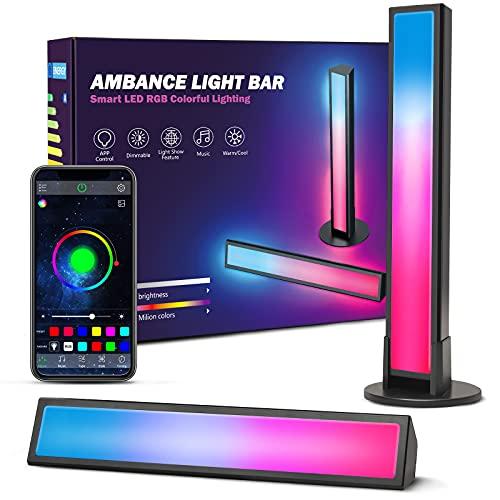 Smart LED Lightbar 2er Pack, Ezanaki RGB Ambient Lampe, LED TV Hintergrundbeleuchtung für Deko Zimmer, Gaming...