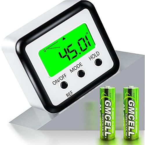 FOLAI Digitaler LCD Winkelmesser Neigungsmesser Inklinometer Wasserdicht Bevel Box Winkelmessgerät Magnetfuß...