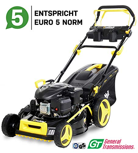 Craftfull Premium Benzin Rasenmher 5in1 - Euro 5-4,4 Kw 6 Ps - 196 ccm 4-Takt Motor - GT Markengetriebe - 53...