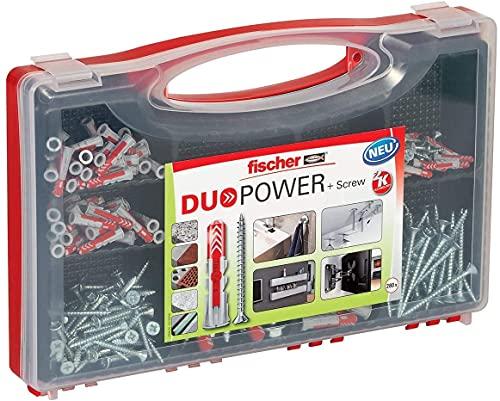 fischer RED-BOX DUOPOWER + Schrauben, Sortimentbox, 280-teilig mit Schrauben & DUOPOWER Dübeln in...