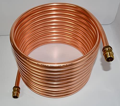 Spirale aus Kupferrohr 18x1mm 10m Außendurchmesser ca.31cm Poolheizung 3/4' ANSCHLUSS