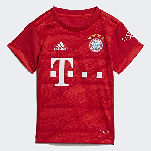 adidas Baby-Jungen FCB H Trainingsanzug, Rot, 80