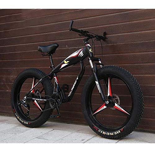 LFEWOZ Dirt Bike Fahrrad-Gebirgsfahrrad Für Erwachsene Männer Frauen, Leichte Kreuzer-Fahrräder, Fat Tire...