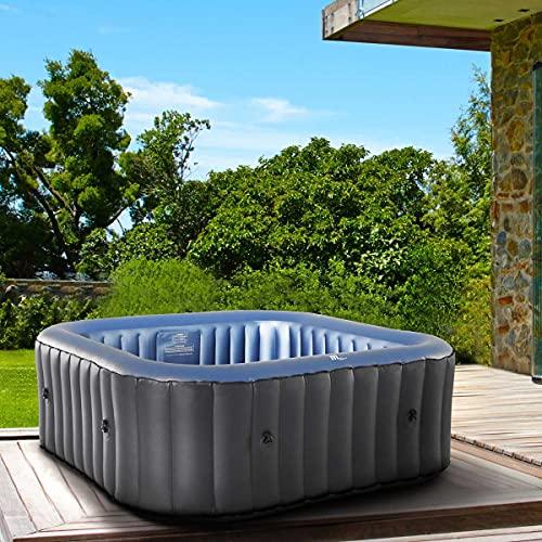 Whirlpool aufblasbar MSpa Tekapo für 6 Personen 185x185cm In-Outdoor Pool 132 Massagedüsen Timer Heizung...