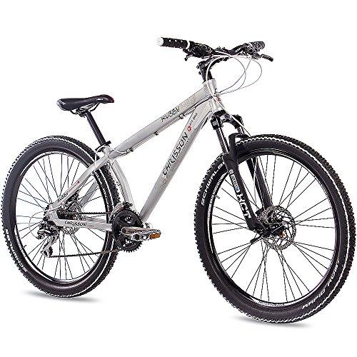 CHRISSON 26' Zoll ALU MTB Mountain Dirt Bike Fahrrad RUBBY Unisex mit 24G Shimano 2xDISK walumin matt
