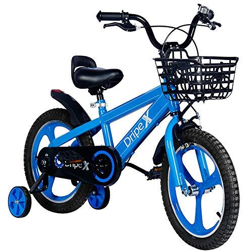 Dripex Kinderfahrrad 16 Zoll ab 4-8 Jahre Jungen & Mädchen Fahrrad für Kinder Laufrad mit Korb, Handbremse...