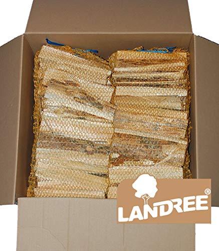 Anfeuerholz 6 Netze a 3 Kg, Anzündholz, Holzstücke, trocken, sofort einsetzbar von Landree®