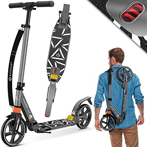 KESSER® Cityroller Scooter 205mm Räder PU Big Wheel - Pro-S Tretroller mit Doppel Federung, City-Roller...