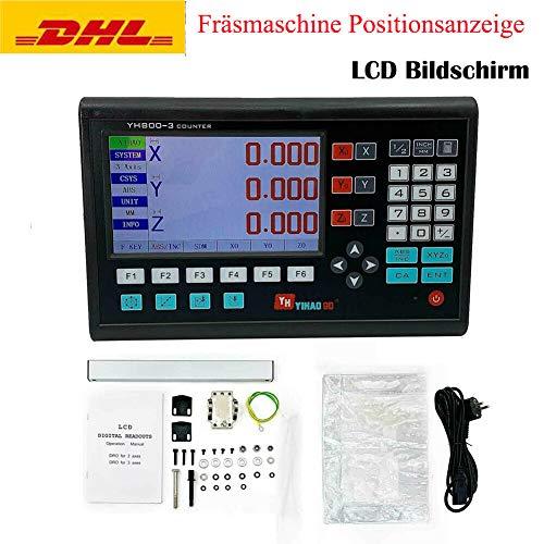 TABODD 3 Achse LCD DRO Digitalanzeige Positionsanzeige Werkzeugmaschine 3-Achsen-Gitter CNC-Fräsen...