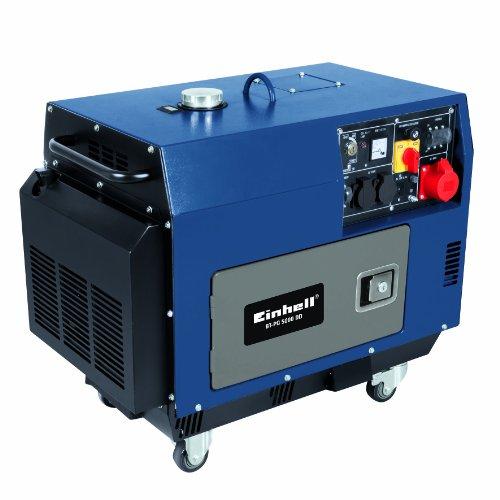 Einhell Diesel Stromerzeuger BT-PG 5000 DD (Drehstrom, 4200 W Dauerleistung, 6,3 kW, 418 cm³ Hubraum, 16 l...