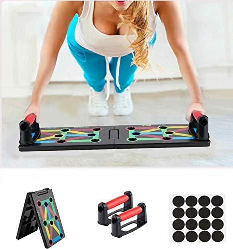 Surplex Faltbare 12-in-1 Push Up Rack Board System mit Handgriff Push-Up-Bracket Board Portable...