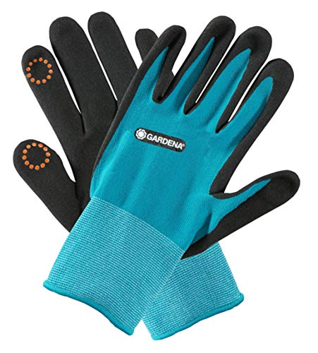 GARDENA Pflanz-/ Bodenhandschuh 10/XL: Nitril-Oberfläche auf der Handfläche schützt vor Feuchtigkeit,...