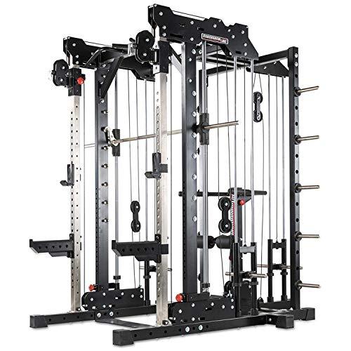 Barbarian-Line Smith Cable Rack - Plate Load Multipresse Komplettset Latzug Dip Station...