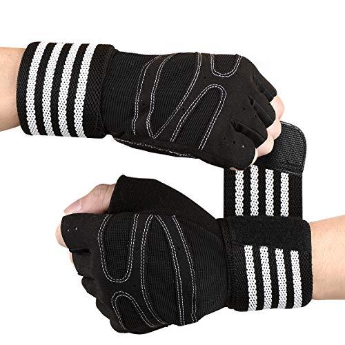 Tomuku Fitness Handschuhe Trainingshandschuhe mit Handgelenksttze Gewichtheben Handschuhe fr Krafttraining und...