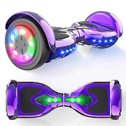 """MICROGO Hoverboard Kinder 6,5"""" Elektroroller mit Bluetooth-Lautsprechern LED-Leuchten, Geschenk für Kinder..."""