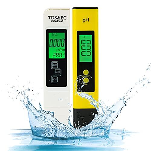 PH Messgerät BuyWeek pH wert Messgerät und TDS Messgerät mit Temperatur 4 in 1 Set Digital...