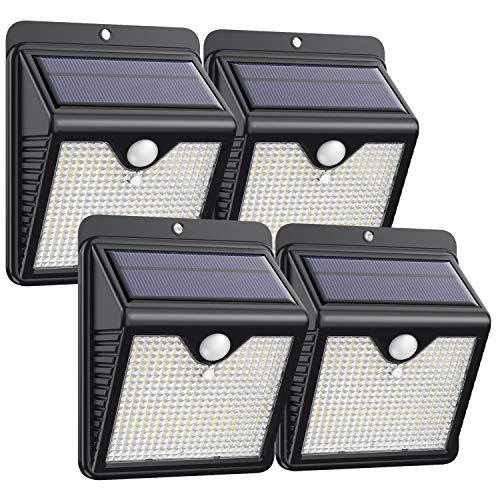 Trswyop Solarlampen für Außen, 4 Stück 150 LED Solar Bewegungsmelder Aussen 2000mAh Solarleuchten für...