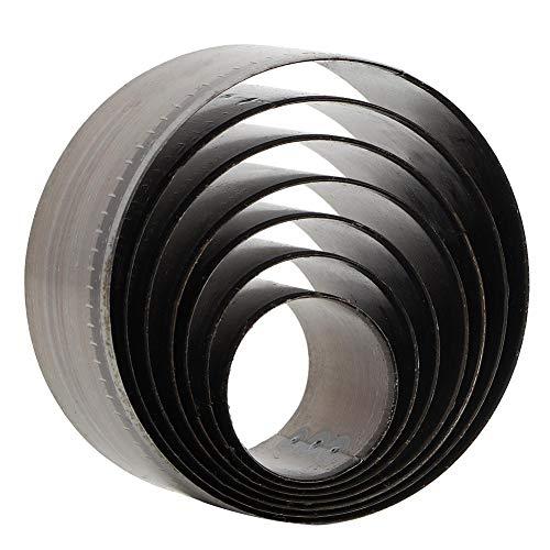 7pcs runde Locher Werkzeug Leder Bell Cutter Lederhandwerk DIY Tools, 20mm, 25 mm, 30 mm, 35 mm, 40 mm, 45 mm,...