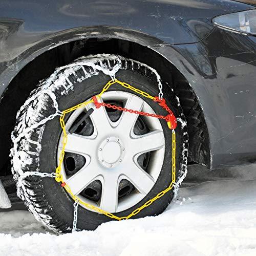 Cartrend 7848250 Schneeketten Auto Schneekette mit ÖNORM im Kunststoffkoffer, 2er-Set 'Safety' Größe 50