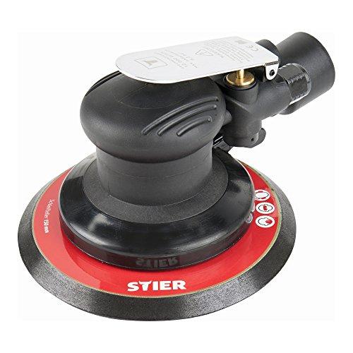 STIER Exzenterschleifer, EXS-120, Länge 187 mm, Schleifteller 150 mm, geeignet für Nass- und Trockenschliff,...