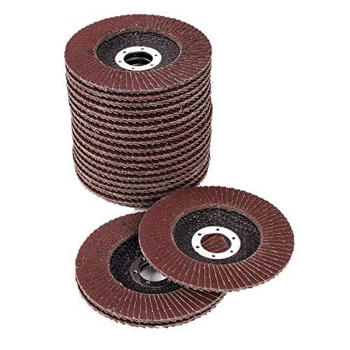 25 Stück Ø-115mm Fächerscheiben Aluminiumoxid-Schleifklappenscheiben Schleifscheiben 40 Körnungen für...